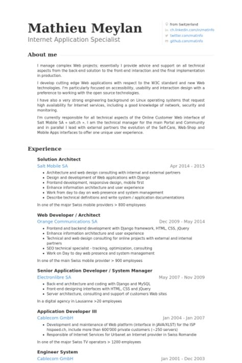 Solution Architect Resume by Solution Architect Resume Sles Visualcv Resume