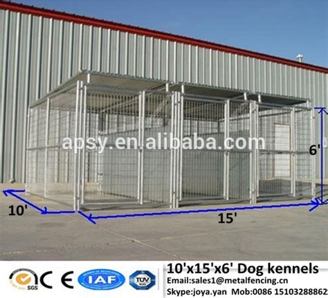 galvanised dog kennel sections galvanized steel cages for dogs silver black fence panels