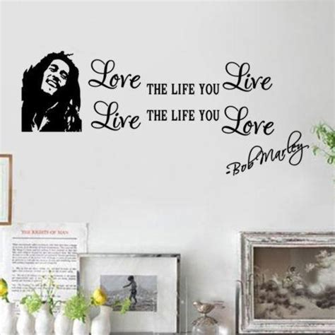 dropshipping chic bob marley quote wall decals decor