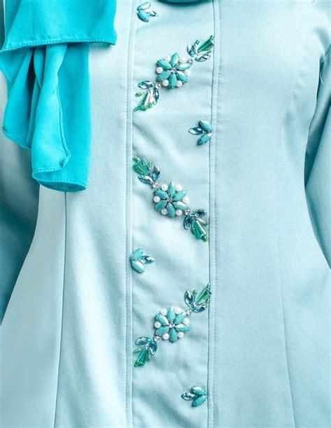 Baju Jubah Warna Green Mint baju kurung moden savina mint green lovelysuri