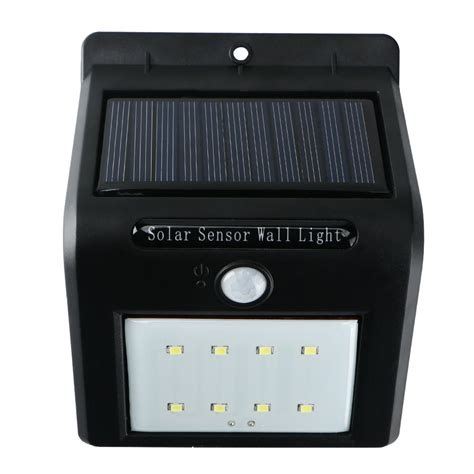led outdoor wall lights with motion sensor waterproof solar power pir motion sensor led wall light