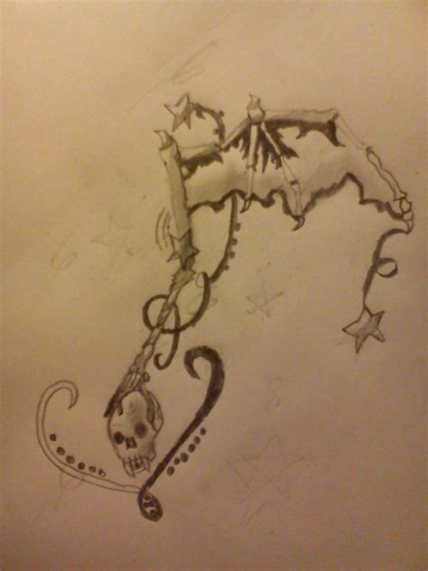 music and stars tattoo designs bones and swirls design by antichrist10