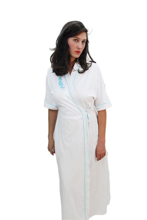 comfortable womens clothes white comfortable vintage robe for women 1970s