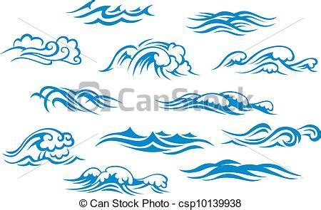 drawing a basic wave can be but after a while it can and sea waves set isolated on white background