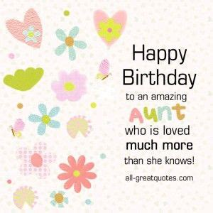 Happy Birthday Quotes For Aunts 25 Best Ideas About Happy Birthday Auntie On Pinterest