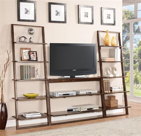 riverside furniture lean living leaning bookcase in smoky driftwood leaning bookcase with 5 shelves by riverside furniture