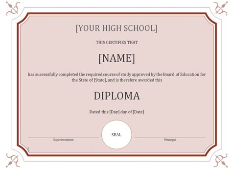 high templates high school diploma template 187 template