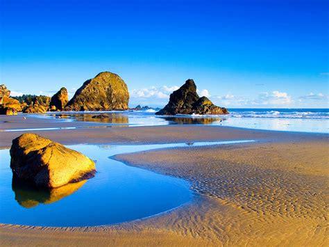 landscapes sandy beach rocks sea waves summer wallpaper hd  wallpaperscom