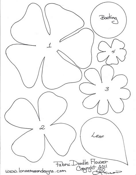 pattern to make paper flower felt flower patterns paper flower pattern template