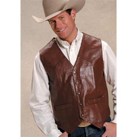 leather vest roper 174 saguaro west goat nappa leather vest 127628