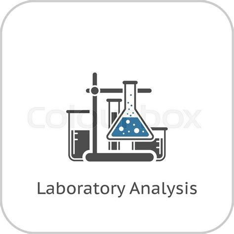 design analysis icon design services icon set laboratory analysis and medical services icon flat design