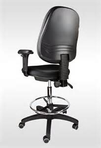 Office Chair With Adjustable Footrest Office Drafting Chair Stool Black Adjustable Armrest