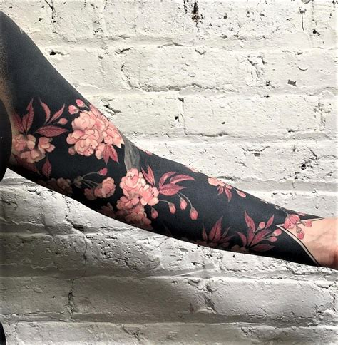 blackout tattoos design 32 sleeve tattoos ideas for flowers and