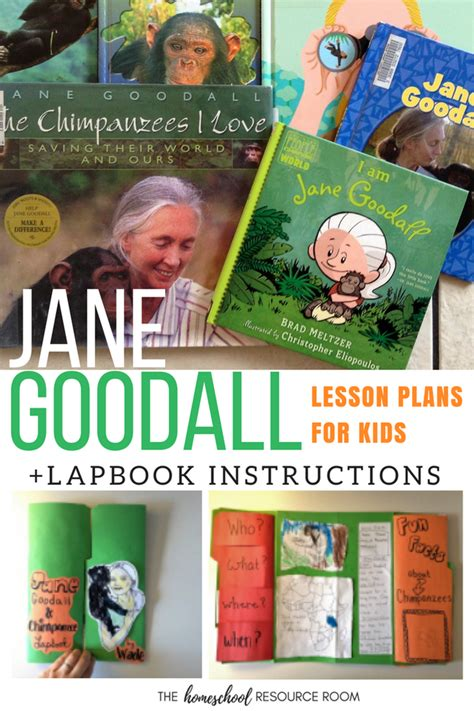 jane goodall biography in spanish jane goodall for kids lesson plans lapbook and