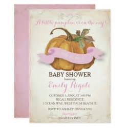 pumpkin baby shower invitation zazzle