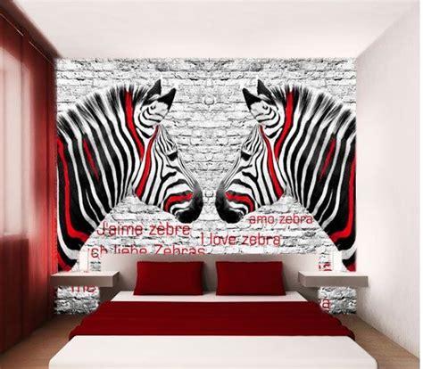 zebra wallpaper for bedrooms bedroom photo wallpaper wall mural photowallpaper