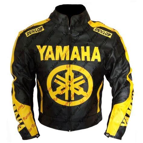 Yamaha Motorradjacke by Yamaha Wheel S Black Yellow Leather Jacket New