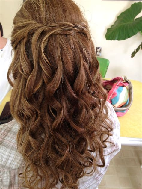 Wedding Hair Up Curls by Curls With Half Up Micro Twist Bridal Updo