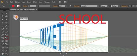 tutorial gambar perspektif tutorial perspektif text pada illustrator
