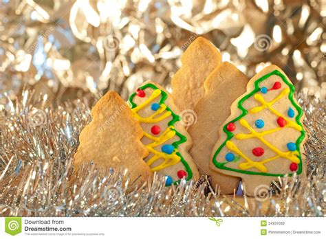 christmas tree shaped cookies stock photo image 24937032