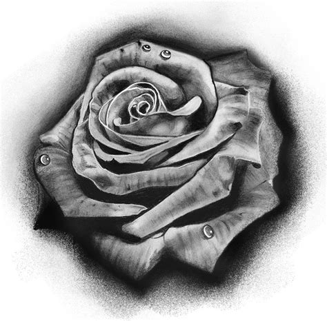 rose stencil tattoo design by badfish1111 deviantart on