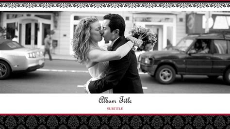 Wedding photo album (black and white design, widescreen