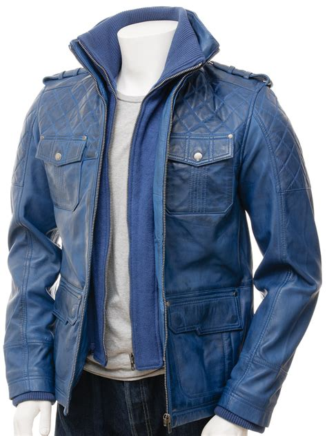 blue motorcycle jacket s blue leather jacket brownston caine