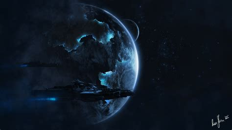 wallpaper abyss sci fi alien spaceship full hd wallpaper and background