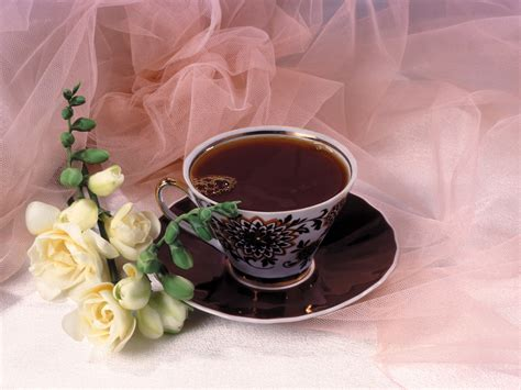 Et Coffee black tea and roses wallpaper and background image