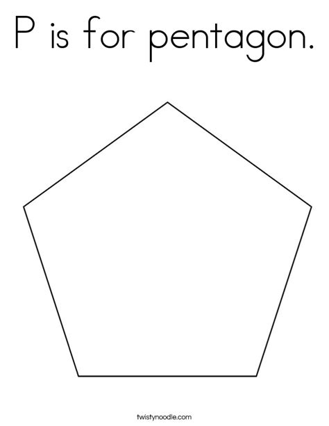 pentagon template pentagon coloring page coloring pages
