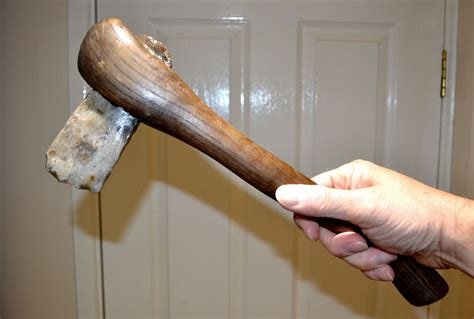 polished axe a sized neolithic polished flint axe professionally