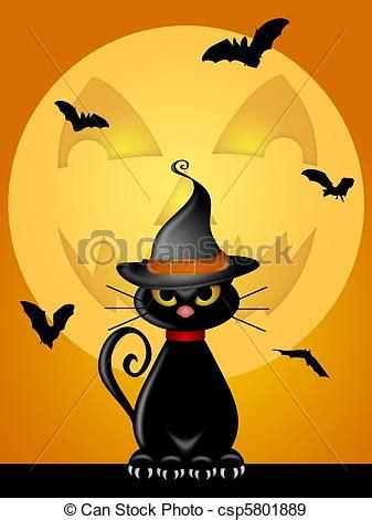 imagenes halloween gato stock de ilustraciones de halloween o gato gato brujas