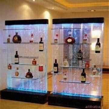 Custom Designed Modern Acrylic Wine Bottle Display Cabinet