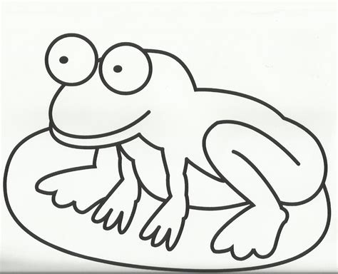 coloring pages of frogs and lilypads frog on lily pad coloring page clipart best