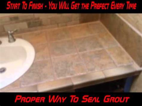 how to seal granite bathroom countertops grout grouting caulking sealing bath kitchen tile