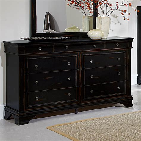 9 drawer dresser homelegance derby run 9 drawer dresser w mirror in antique black beyond stores