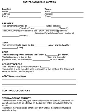 printable rental agreement template rental agreement template 8ws templates forms free