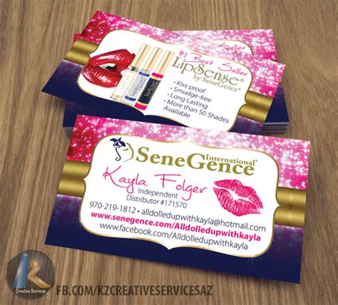 Senegence Business Cards Style 3 183 Kz Creative Services 183 Online Store Powered By Storenvy Senegence Business Card Template