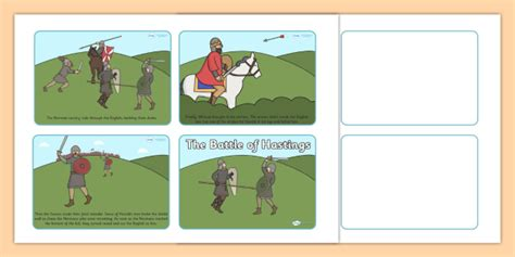 Hastings Gift Card - the battle of hastings story sequencing 4 per a4 the battle