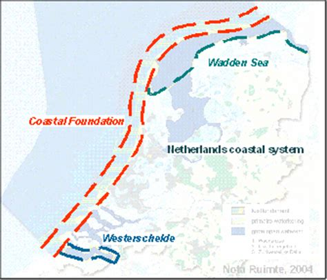 netherlands coast map risk and coastal zone policy exle from the netherlands