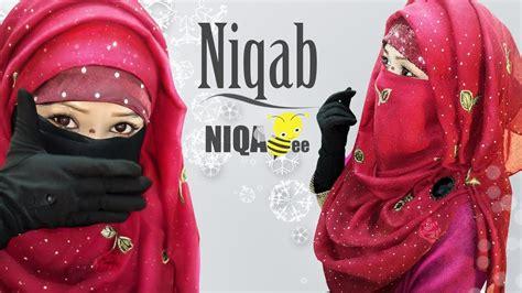 niqab tutorial with loop scarf niqab style using one scarf traditional look hijab