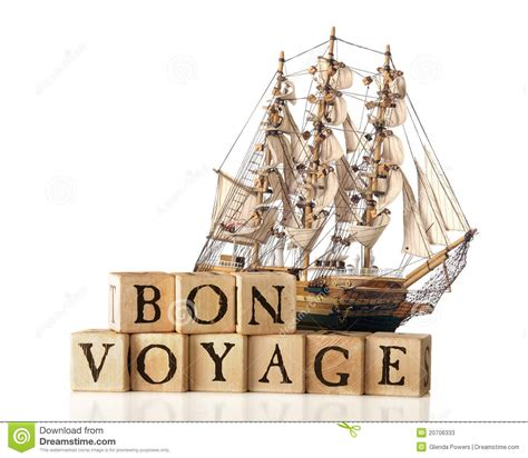 bon voyage stock image image  voyage wooden white