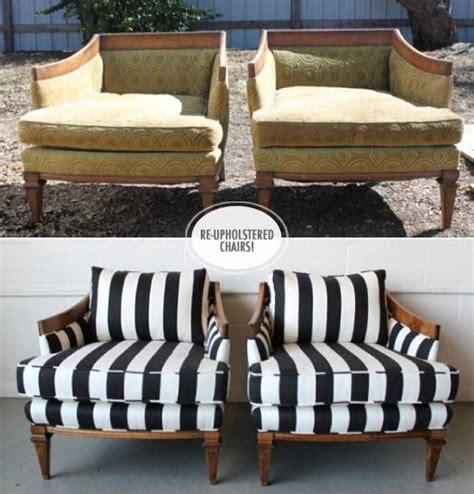 getting a couch reupholstered upcycled furniture reupholstered chairs before after