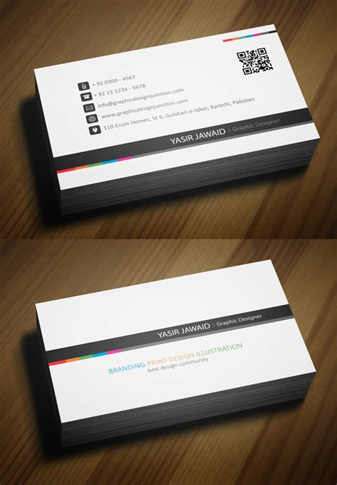 Professional Business Card Templates Free free business cards psd templates print ready design