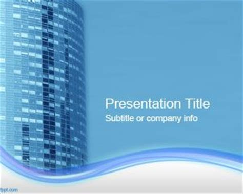 office template powerpoint office building powerpoint template ppt template