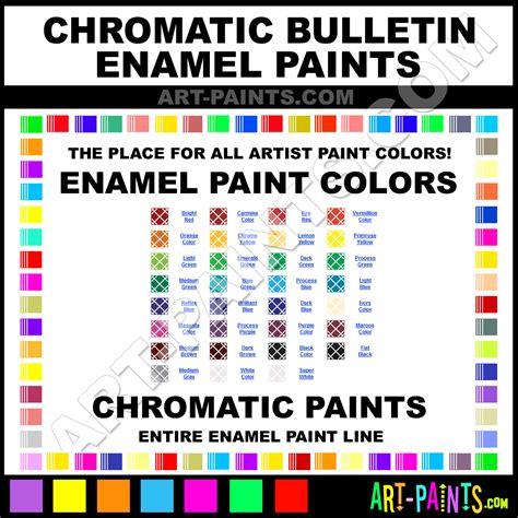chromatic colors chromatic bulletin enamel paint colors chromatic