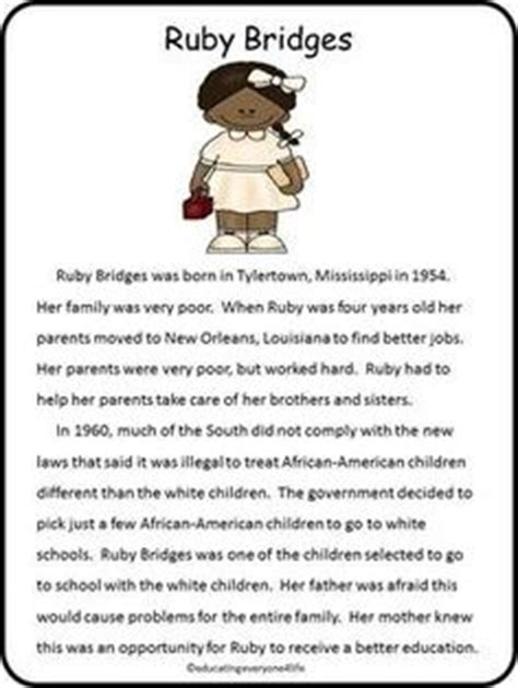 Ruby Bridges Worksheets by 1000 Images About Biography On George