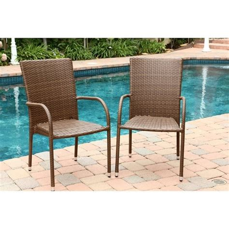 Palermo Outdoor Wicker Dining Chair In Brown Set Of 4 Palermo Outdoor Furniture