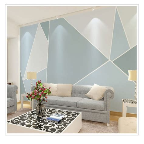 Living Room Wallpaper 3d Background by Photo Wallpaper Modern Abstract Geometric Graphics