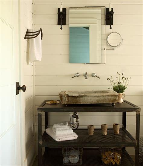 Industrial Bathroom Vanity Industrial Cart Washstand Eclectic Bathroom The Iron Gate